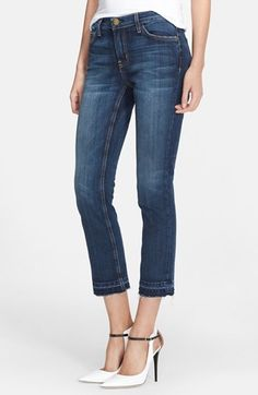 Current/Elliott 'The Cropped Straight' Let Out Hem Jeans (Loved) available at #Nordstrom