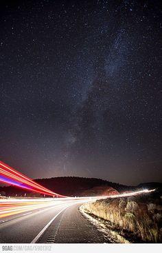 Starry night in Flagstaff, Arizona.