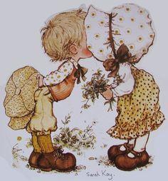 Florynda del Sol ღ☀¨✿ ¸. Sarah Key, Holly Hobbie, Creative Pictures, Cute Pictures, Sara Key Imagenes, Decoupage Vintage, Cute Illustration, Vintage Cards, Vintage Children