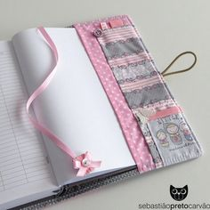 One of a kind your choice of by CharmDesign: – SkillOfKing. Diy Notebook, Notebook Covers, Journal Covers, Book Crafts, Diy And Crafts, Sewing Crafts, Sewing Projects, Fabric Book Covers, Diary Covers
