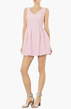 Topshop Fluffy Fit & Flare Dress available at #Nordstrom