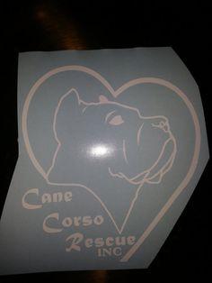 Cane Corso Rescue car decal free shipping by arkansasmade on Etsy, $12.00 #canecorso #rescue #decal
