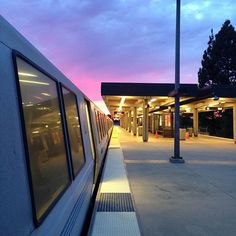 Sunset at BART Bay Area Rapid Transit, Pictures Of You, Journey, Train, Sunset, Purple, Photos, Photography, Instagram