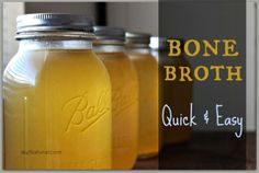 Bone Broth Quick and Easy : This bone broth recipe and method will allow you to create nutrient dense stock in a fraction of the time. Preserve and use in many creative and healthy ways.