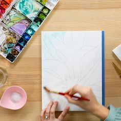 There's nothing qu… There's nothing quite like watercolor painting. 😌🎨 In our new online class, Jenna Rainey will make your dreams come true by teaching you how to paint b-e-a-u-tiful plants and succulents. Watercolour Tutorials, Watercolor Techniques, Watercolour Painting, Art Techniques, Painting & Drawing, How To Watercolor, Art Sketches, Art Drawings, Illustration Botanique
