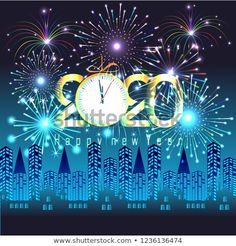 Happy New Year 2020 background with fireworks. Happy New Year Message, Happy New Year Wishes, Happy New Year 2020, New Year Greeting Cards, New Year Greetings, New Year Card, New Year Wishes Images, Happy New Year Images, Best Birthday Wishes