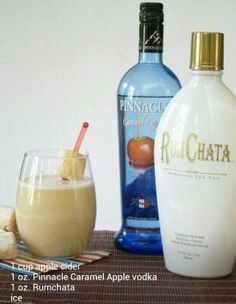Carmel apple vodka and rum chata
