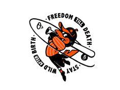 Redesign of Orioles by Monkey BEN Mascot Design, Badge Design, Tee Design, Vintage Graphic Design, Graphic Design Illustration, Big Shot, Logo Design Inspiration, Character Design, T Shirt