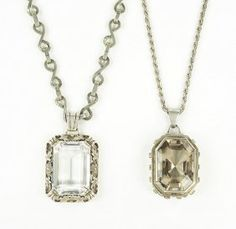 A Rock Crystal And Silver Pendant Necklace. Lot 162-7259