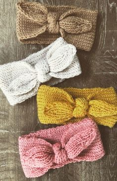 Hand Knitted Baby Toddler Top Knot Headbands | ArtyBearHandmade on Etsy
