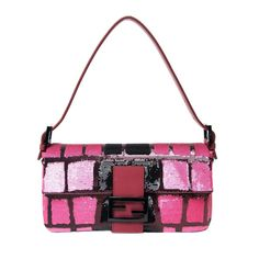 Fendi Hot Pink Sequined Classic Baguette Shoulder Bag - Shop the Best of What's New at ShopBAZAAR: http://shop.harpersbazaar.com/new-arrivals/the-best-of-whats-new/