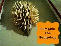Pumpkin the hedgehog www.playfullearners.co.uk