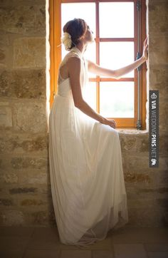Like this! - wearing a  gown for BHLDN | CHECK OUT MORE IDEAS AT WEDDINGPINS.NET | #weddings #formal #formalwedding #events #forweddings #iloveformals #romance #beauty #planners #blacktie