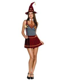Wizard Academy Adult Womens Costume...For all my fellow sexy harry potter nerds. Id wear it without the hat though I think.