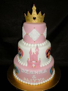 3-Tier Tiara Cake (by specialcakes/tracey) - Disney Cakes