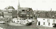 Gedempte Zuiderdiep hoek Schoolholm Groningen 1975