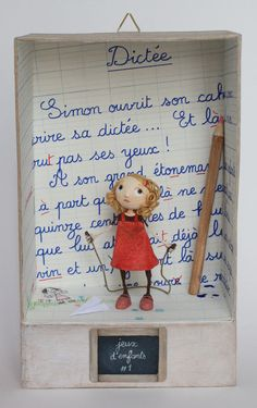 games for children 1 Chloe Rémiat, youth illustrator and sculptor paper Altered Tins, Altered Art, Paper Dolls, Art Dolls, Diy And Crafts, Paper Crafts, Matchbox Art, Paperclay, Assemblage Art