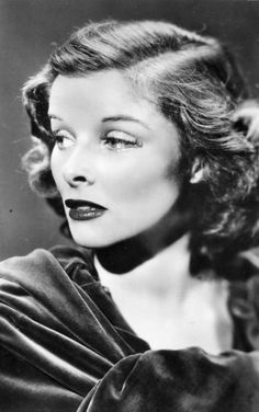 Katherine Hepburn~my favorite of all and I love this not often seen picture.