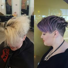 Fabulous before and after of our Keratin hair treatment followed by a super fresh cut & colour! For the keratin treatment we used Alfaparf  and coloured with Evo fab pro violet mix!  #theradicalhairdesign #hairbygemmabandiera