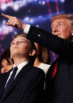Donald J. Trump with his son Barron