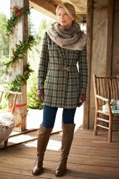 Teal Tweed Crop Blazer | Womens Fashion - Outerwear | Pinterest ...