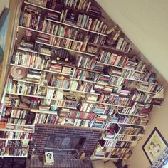 This perfect hearth. | 26 Bookshelves That Will Give You Serious Goals