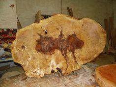 Baumscheibe, Tischplatte, Holzscheibe ca. 110 x 80 x 5 cm, Kastanie, geschliffen in Bastel- & Künstlerbedarf, Bastelmaterialien, Basismaterialien, Bastelholz | eBay