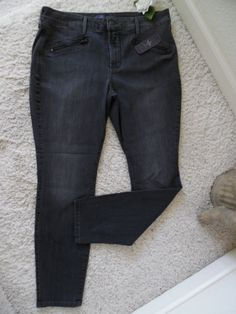 BNWT NOT YOUR DAUGHTER'S JEANS 14P SUPER SKINNY~NYDJ LIFTTUCK GREY WASIT 34~$124 #NotYourDaughtersJeansLEGGING #SUPERSKINNY