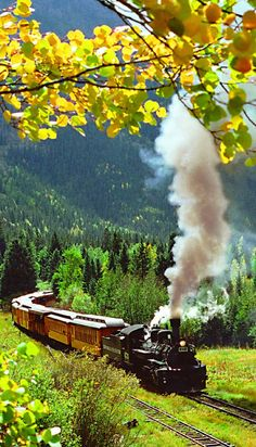 The Durango & Silverton Narrow Gauge Railroad in Colorado.