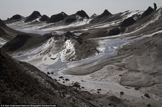 AZERBAIJAN Marvel: The Mud Volcanoes of Azerbaijan, made from geo-excreted liquids and gases