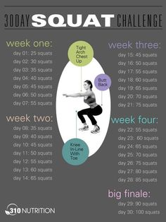 squats // awesome for beginners or those afraid of the 30 day challenge! ;):
