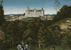 Hunting near Hartenfels Castle | Cleveland Museum of Art detaliu