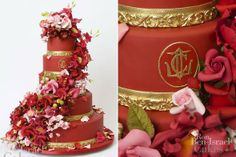 This says High Society to me, what about you? Wedding cake by Ron Ben Israel Amazing Wedding Cakes, Wedding Cakes With Flowers, Amazing Cakes, Eva Longoria Wedding, Bible Cake, Ron Ben Israel, Red Cake, Sugar Cake, Fondant Icing