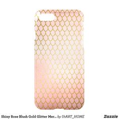 Shiny Rose Blush Gold Glitter Mermaid Scales iPhone 8/7 Case Case #iPhone Case #mermaid #technology #phonecase, #mermaid #case,#mermaid #iphone, #mermaid #samsung, #society6 #shopping #onlineshopping #buyart #art #glamour #sparkle #girly #trendy #mermaidscales, #mermaid #scales #utart #zazzle