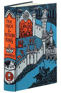 The Once and Future King - T. H. White.  Introduced by Kevin Crossley-Holland Illustrated by John Lawrence   A beguiling and irresistible retelling of the Arthur myth, from the king's childhood in The Sword in the Stone to the darker sequels that tell the story of Camelot.