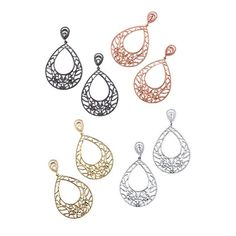 Bring impact to your earring collection! The Artisan Filigree Earrings are big impact yet lightweight. You never have to compromise on glamour with these openwork design teardrop shaped earrings.FEATURES