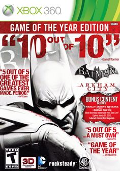 Batman Arkham City GOTY I bought this game along with many others as my birthday present it costed €30