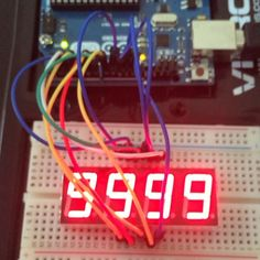 #اردينو #arduino #التتراسونيك #ultra #shock #seven segment #سفن سيقمنت#4 digits by go_arduino