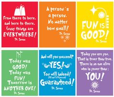 Free Dr. Seuss Quote Printables