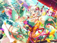 Girls Band Party Game Information and Tools Party Characters, Anime Characters, Yukata, Anime Girl Kimono, Samurai, Dream Anime, The Kingdom Of Magic, All Band, Pastel Palette