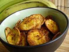 Healthy Snack Recipe: Spicy Baked Plantain Chips   Kitchn