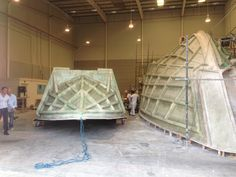 Suprema and Vitmar 35 Meter hull fiberglass molds at the shipyard Yacht Builders, Luxury Yachts, Exterior Design, Interior, Green, Indoor, Home Exterior Design, Interiors, House Exterior Design