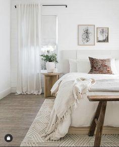 Neutral Bedroom Decor, Room Ideas Bedroom, Dream Bedroom, Home Decor Bedroom, Master Bedroom, Neutral Bedrooms, White Bedrooms, Diy Bedroom, Design Bedroom