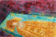 Vírgen dorada en el cofre. #MisteridElx #elche #travel #contemporaneo #elche #art #paintings #antoniasoler #contemporaryart #Virgen #cofre antoniasoler.com/...