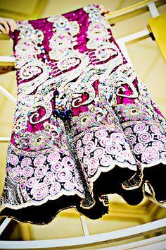 Purple Indian wedding lehnga on IndianWeddingSite.com
