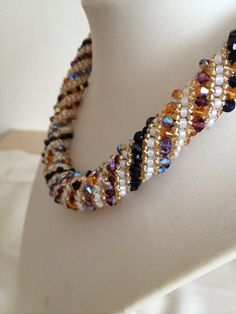 Russian Spiral Swarovski Necklace Hand Threaded by TwinklingGems