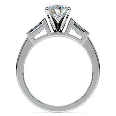 Baguette Diamond Engagement Ring in White Gold (1/4 ctw) | Image 02