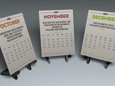 2013 Quolendar - Vintage Letterpress Quote Calendar by Janie, via Kickstarter.