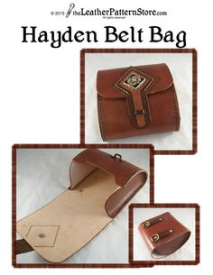 You're going to love Hayden Belt Bag leathercraft… Leather Wallet Pattern, Pouch Pattern, Sewing Leather, Leather Holster, Leather Tooling, Leather Purses, Leather Craft Tools, Leather Projects, Leather Crafts