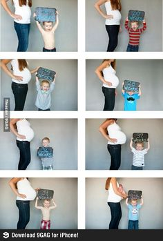 cutest pregnancy pic with sibiling